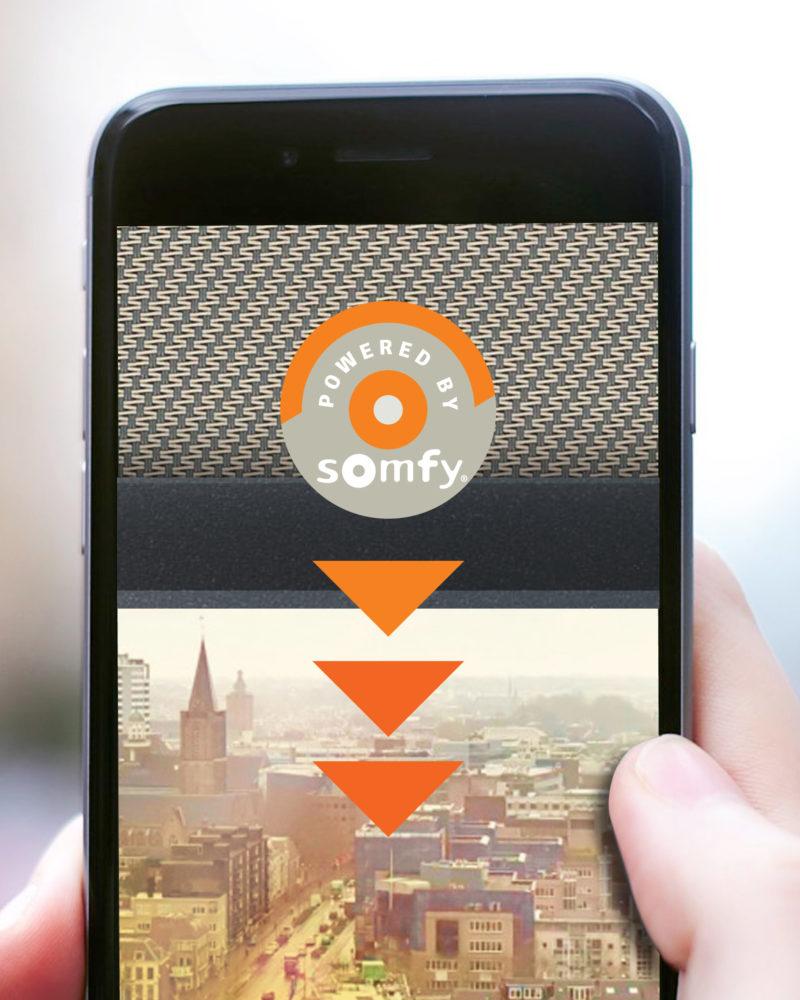 My Sun App Ready Somfy Screen